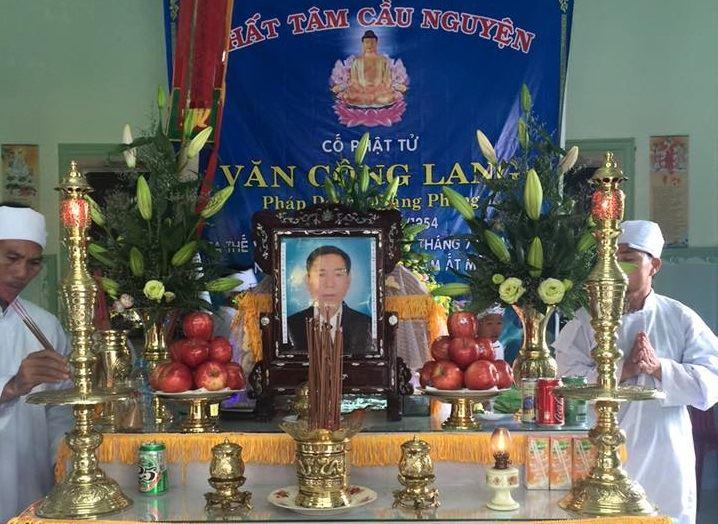 Ông Văn Công Lang qua đời
