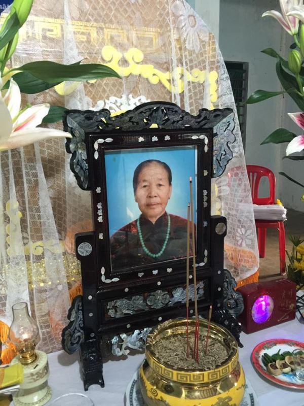 Mệ Lê Thị Cháu qua đời