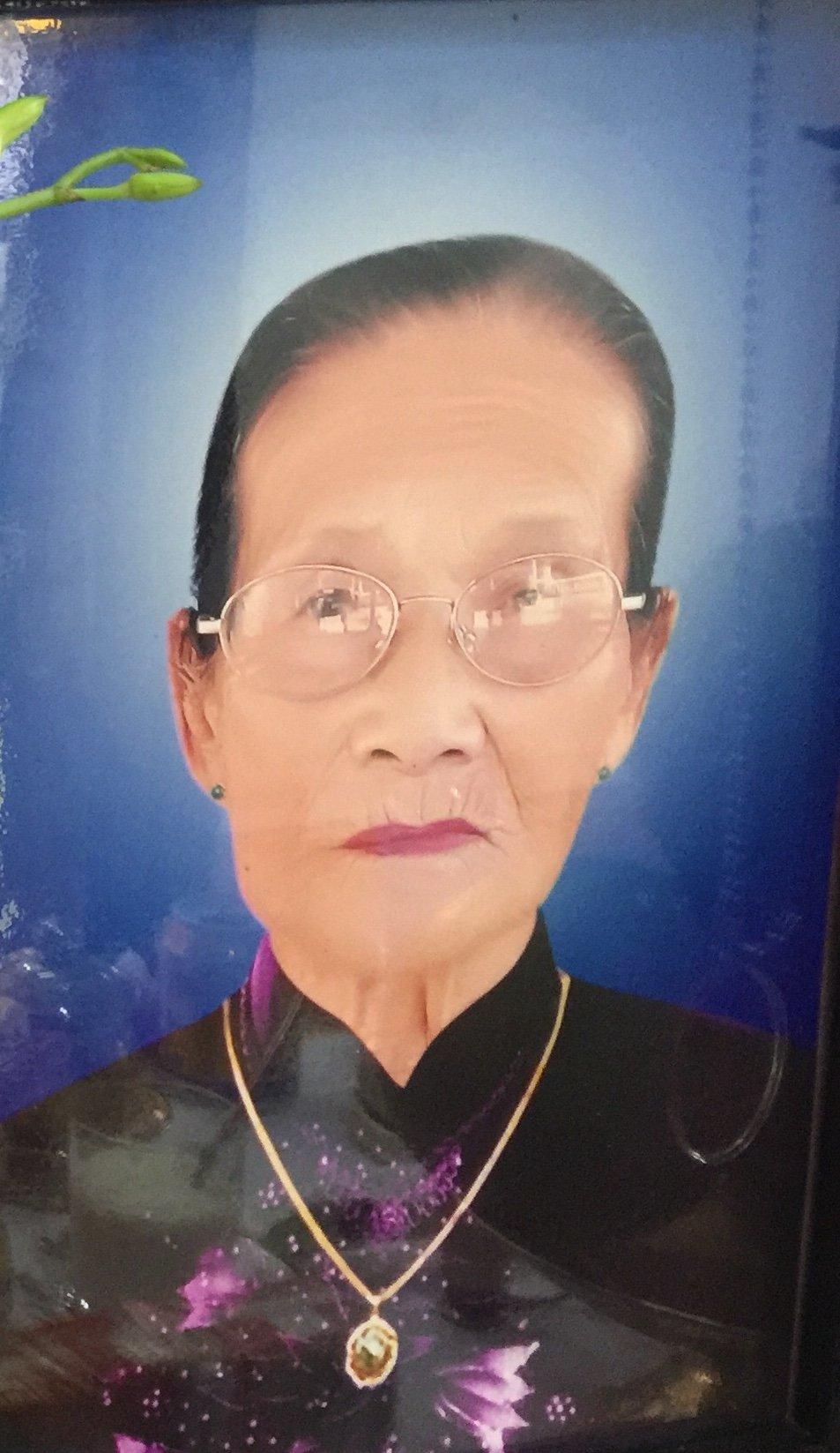 Bà  Trương Thị Hiểu qua đời