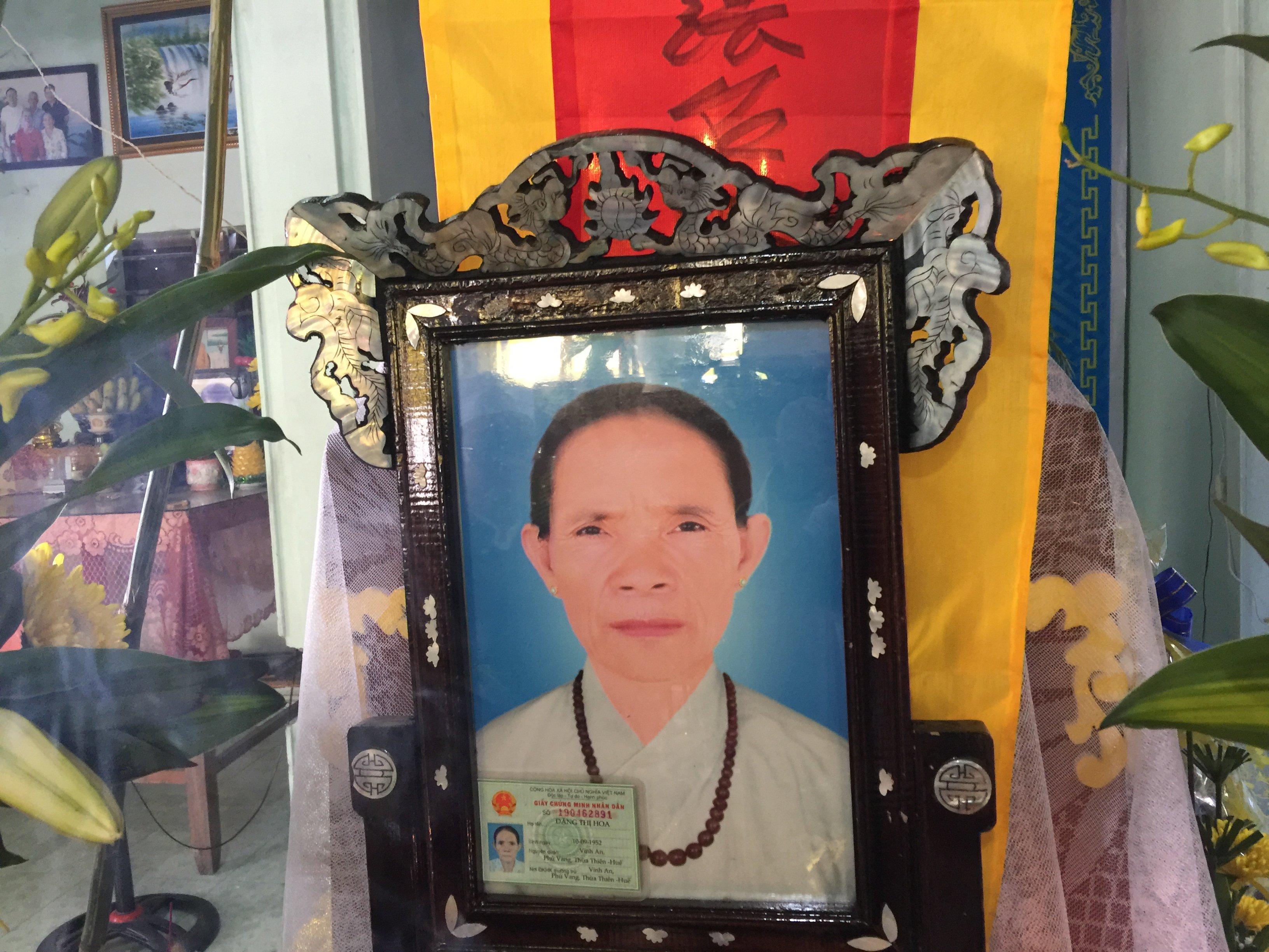 Bà Đặng Thị Hoa qua đời