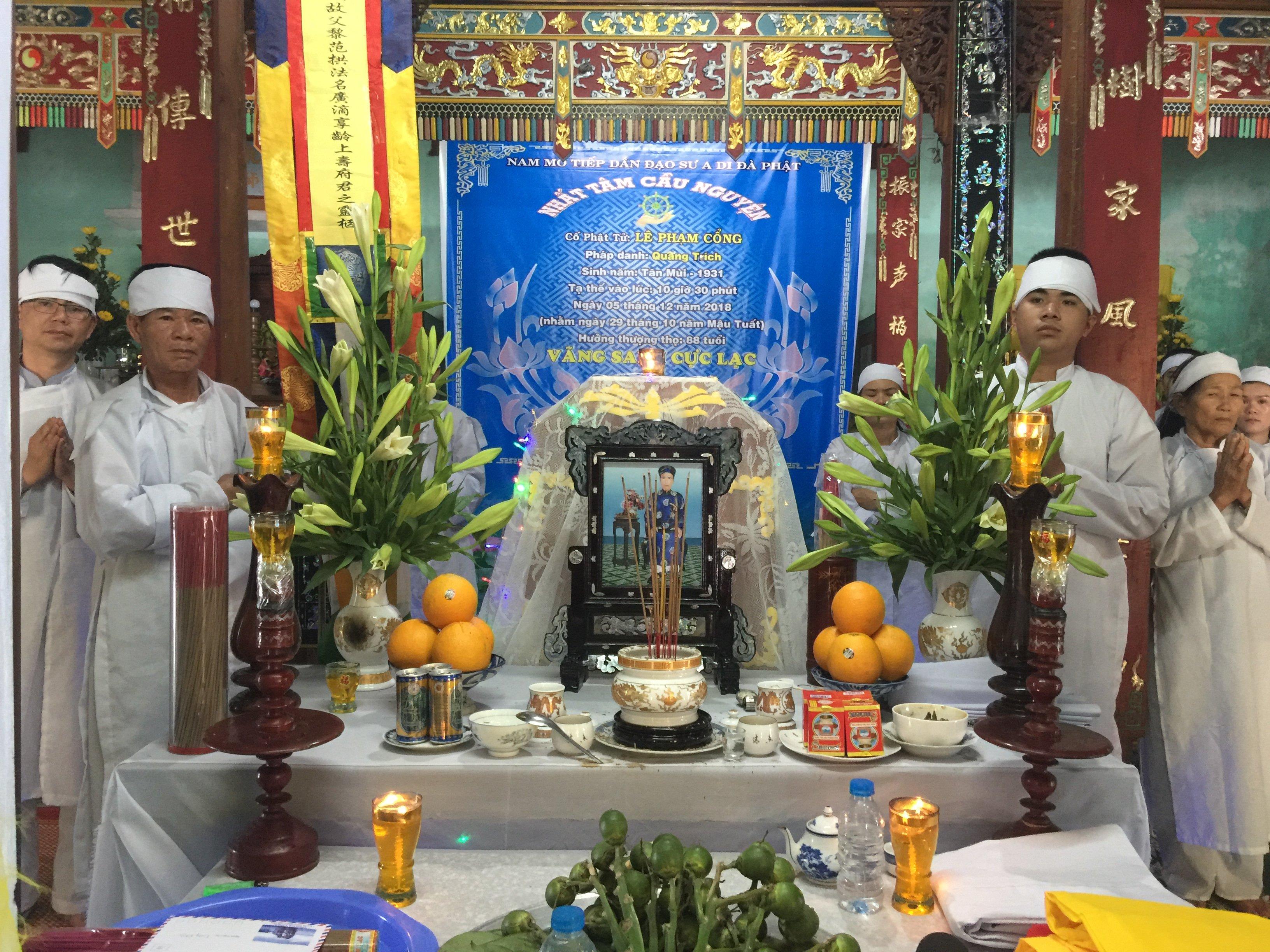 Lời cảm tạ của tang quyến ông Lê Phạm Cổng.