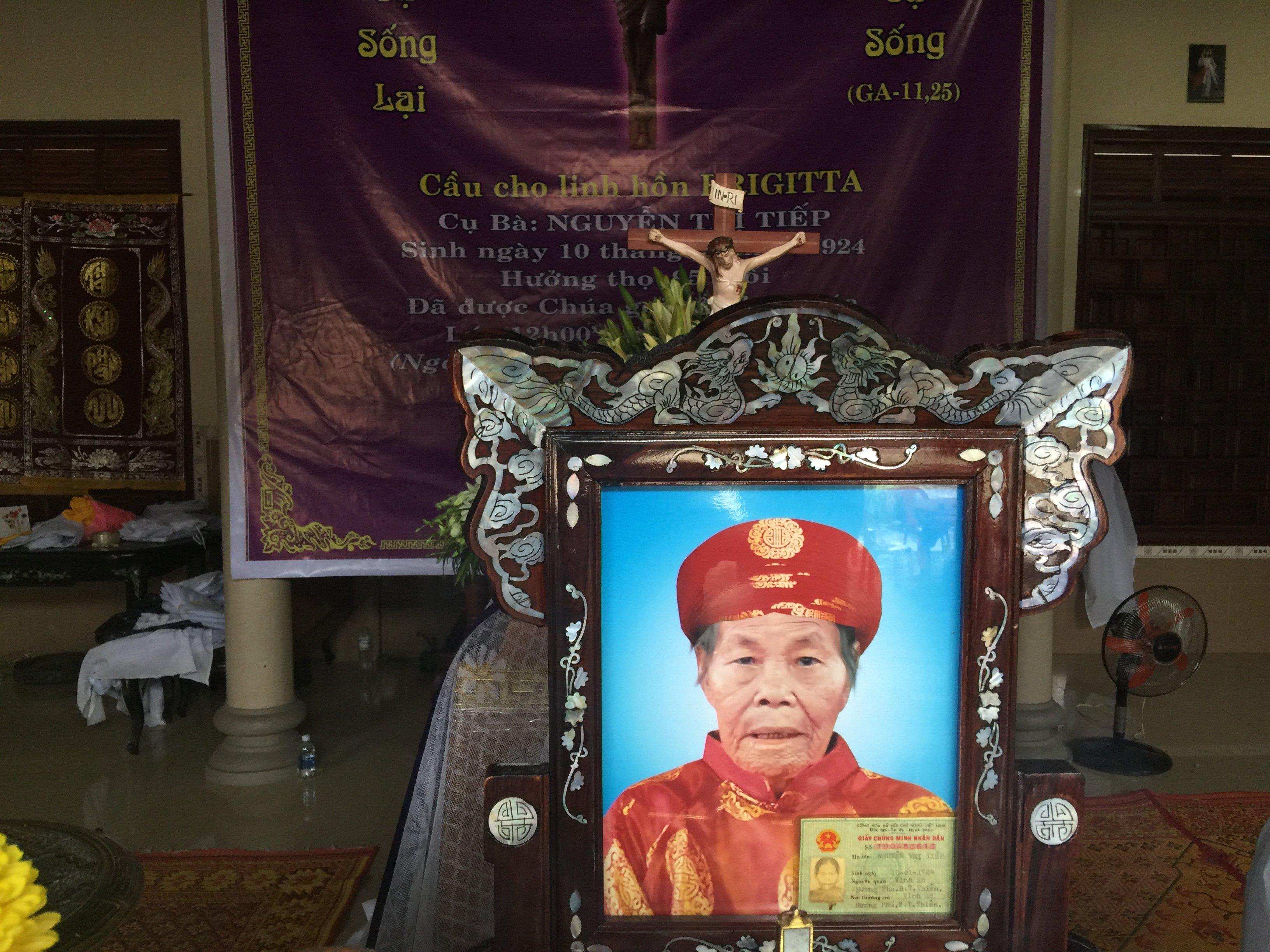 Mệ BRIGITTA Nguyễn Thị Tiếp qua đời