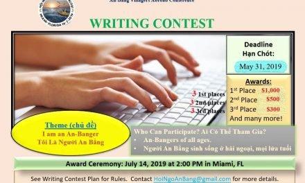 Writing Contest Updates – Cập Nhật Về Cuộc Thi Viết Văn