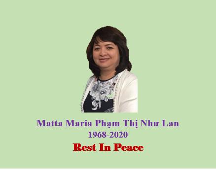 Bà Matta Maria Phạm Thị Như Lan Qua Đời